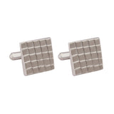 Cufflinks Italian Metal Textured Silver