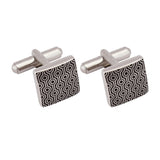 Cufflinks Italian Metal Printed Black