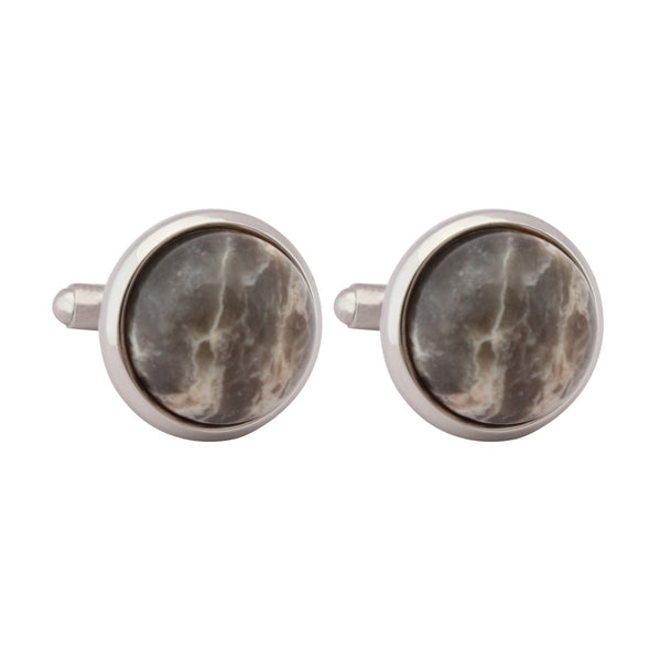 Cufflinks Italian Stone Solid Brown
