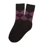 Socks Mercerised Pima Cotton Black Argyl
