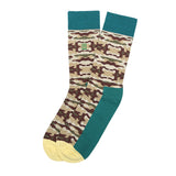 Socks Mercerised Pima Cotton Beige Print