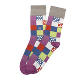 Socks Mercerised Pima Cotton Multi Print