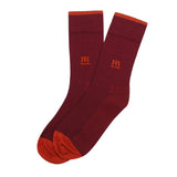 Socks Mercerised Pima Cotton Maroon Soli
