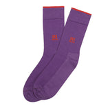 Socks Mercerised Pima Cotton Purple Solid