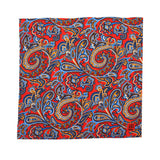 Pocket Square 100% Silk Red Printed
