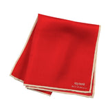 Pocket Square 100% Silk Red Solid
