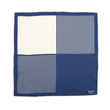 Pocket Square 100% Silk Navy Striped