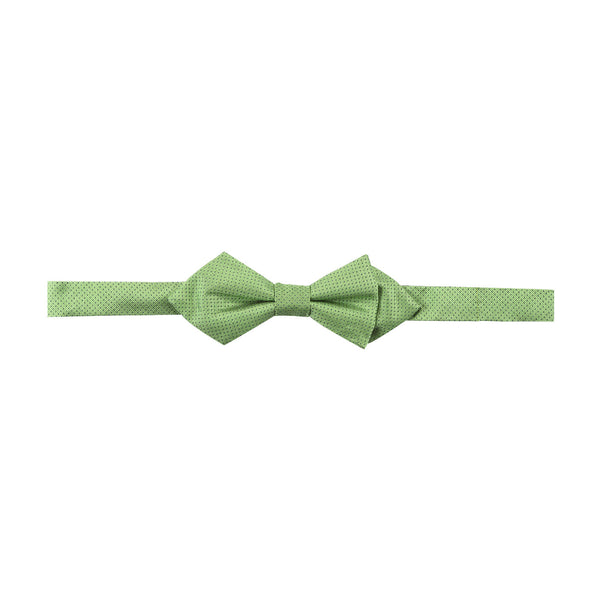 Bowtie 100% Silk Diamond Green Print