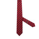 Necktie 100% Silk 5 Fold Red Stripes