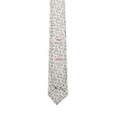 Necktie 100% Silk Regular Beige Print