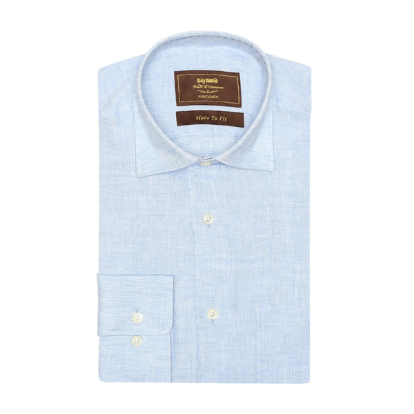 MTF Linen Full Blue Shirt