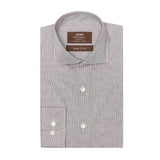 MTF Cotton Brown Stripes Shirt