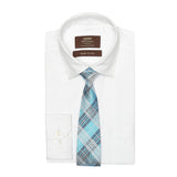 Necktie 100% Silk Regular Blue Check