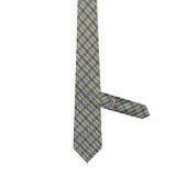 Necktie 100% Silk Regular Yellow Checks