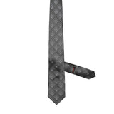 Necktie 100% Silk Regular Black Checks