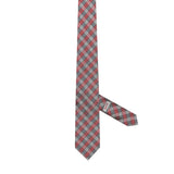 Necktie 100% Silk Regular Beige Checks
