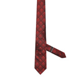 Necktie 100% Silk Regular Red Checks