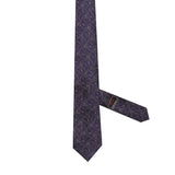 Necktie 100% Silk Regular Purple Paisley