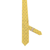 Necktie 100% Silk Regular Yellow Print