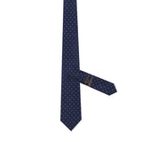 Necktie 100% Silk Regular Blue Print