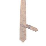 Necktie 100% Silk Regular Peach Paisley