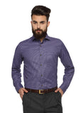 MTF Cotton Purple Solid Shirt