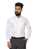 MTF Cotton White Solid Shirt