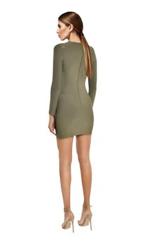 Misha Collection - Drew Bandage Mini Dress - Khaki
