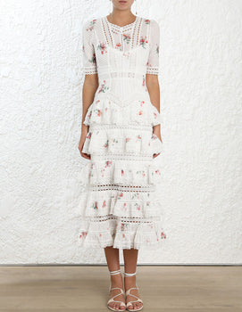 Zimmermann - Heathers Pintuck Tiered Dress