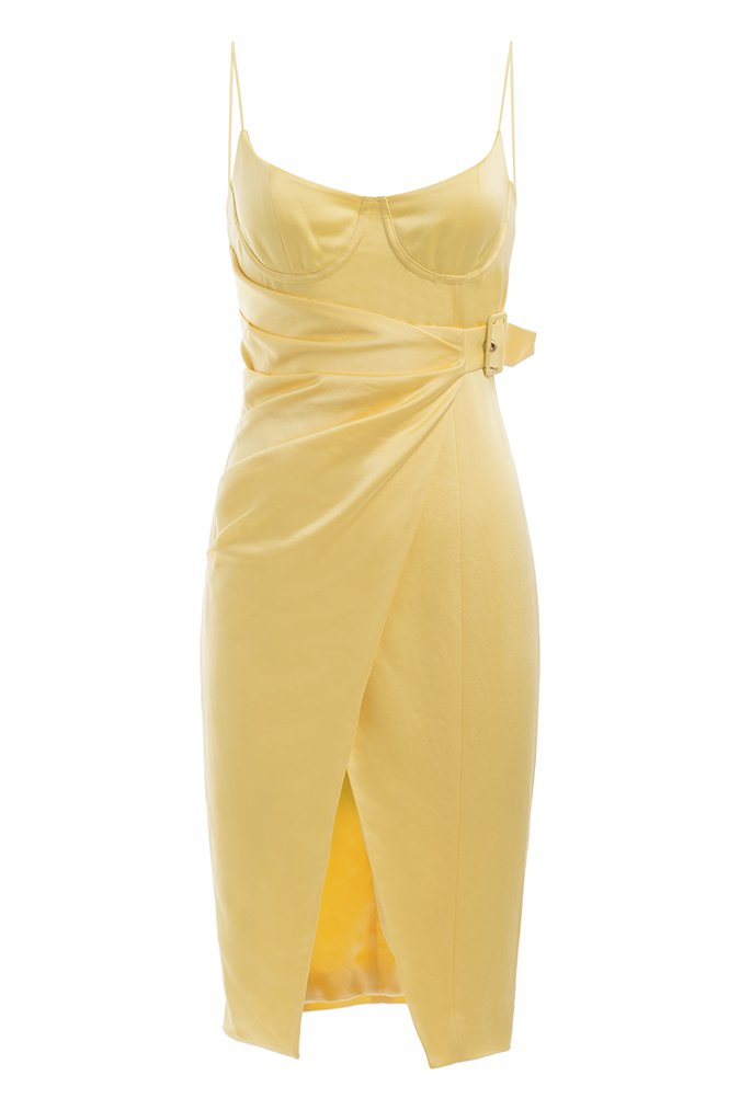 Misha Collection - Rina Midi Dress Lemon