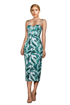 Elle Zeitoune - Allannah Tropical Palm Dress