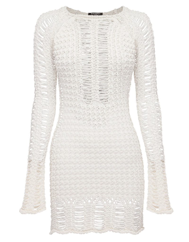 Balmain - Cotton Sweater Dress - I am Finesse - 3