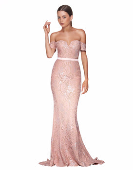 Elle Zeitoune - Carina Rose Gown- EX RENTAL SALE