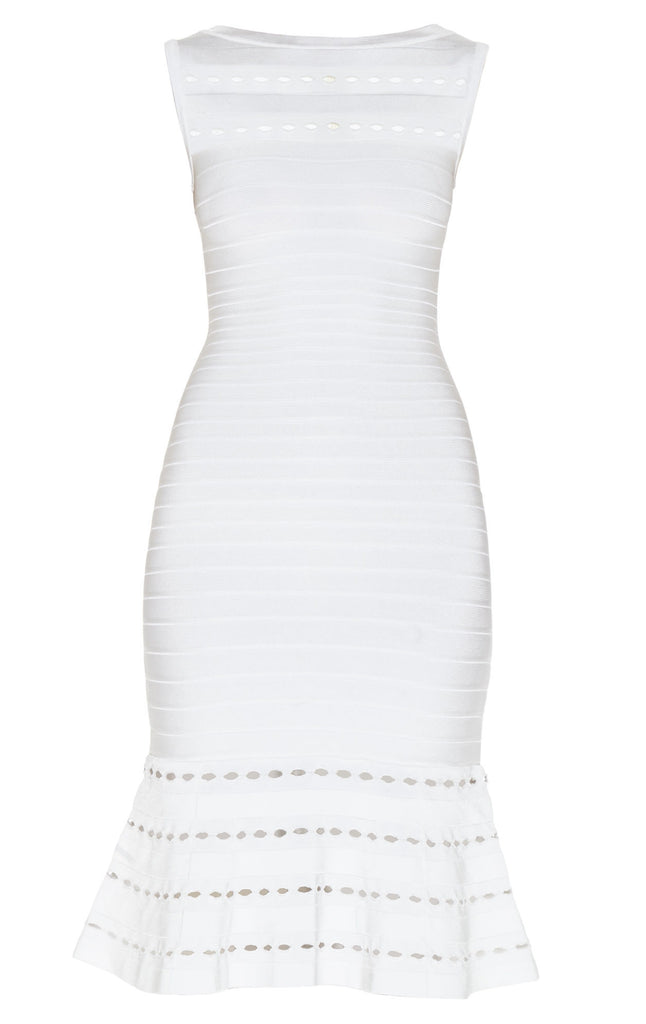 Herve Leger - Audrina Eyelet-Detail Dress