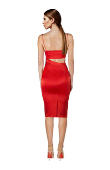 Misha Collection - Selina Slip Dress Red