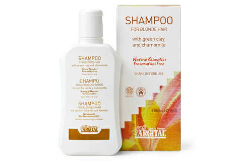 Shampoo for Blond and Fine Hair with Green Clay and Chamomile Flower Extract