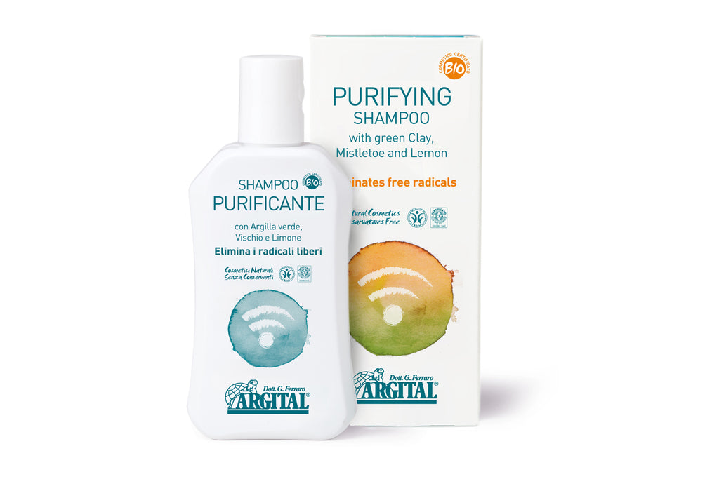 Purifying Shampoo with Green Clay, Mistletoe and Lemon - Eliminates Free Radicals