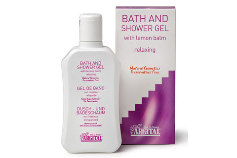 Relaxing Bath and Shower Gel with Lemon Balm Leaf Extract and Green Clay Gel