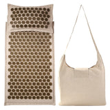 Cotton Linen Acupressure Massage Mat and Cushion with Cotton Bag
