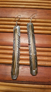Long Feather Earrings - White Owl Creek Boutique
