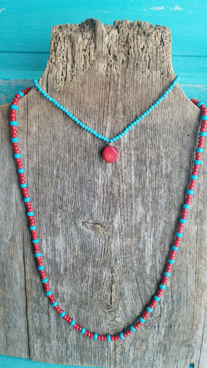 Red Stone Seed Bead - White Owl Creek Boutique