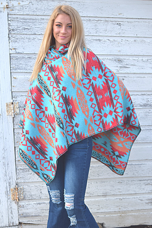 Button Collar Poncho - White Owl Creek Boutique