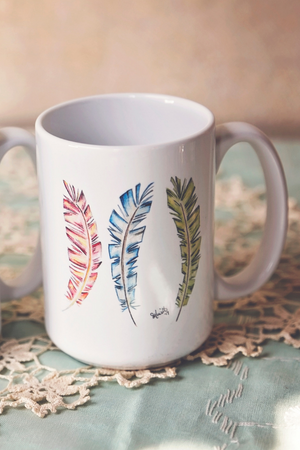 Arrows and Feathers Mugs - White Owl Creek Boutique