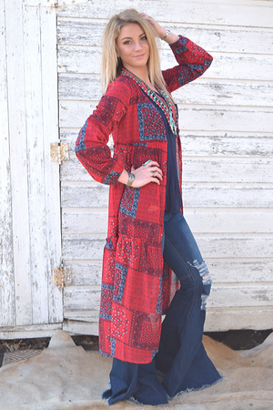 Bandanna Duster - White Owl Creek Boutique