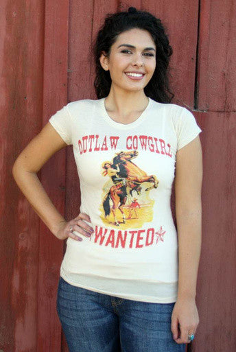 Outlaw Cowgirl Wanted - White Owl Creek Boutique