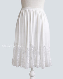 Grace & Lace Lace Flounce Skirt Extender - White Owl Creek Boutique