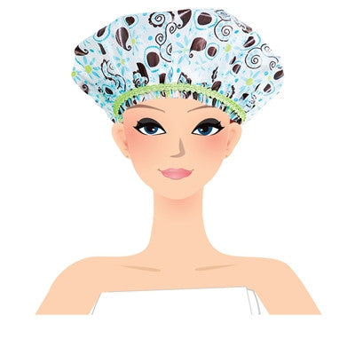 Leaves and Vines Print Shower Cap