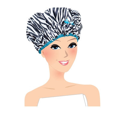 Sassy Stripes Shower Cap