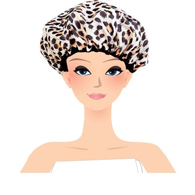 safari spots shower cap