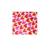 shower turban hearts pattern